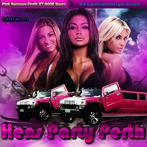 Hens Night Perth Limo Party with Pink Hummer Perth Jet Door Limos.
