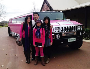 Pink Hummer Stretch Limousine 16 Seater Swan Valley Winery Tour