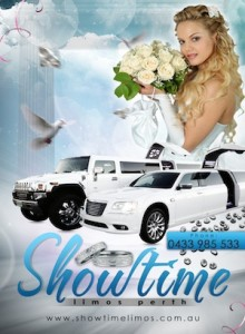 Wedding Cars Perth at Showtime Limos chauffeured hire service.