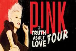 Pink Limos Perth & Pink Concert 2013. Perth Arena June.